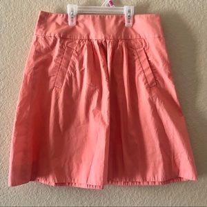 J Crew Coral Skirt Side Pockets Sz Small